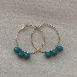 Jewelry - Handmade Beaded Hoop Earrings One of a Kind